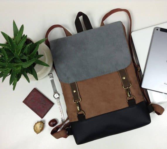 Vegan laptop backpack