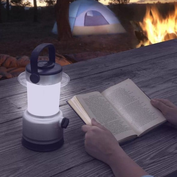 Lantern used for reading during camping.