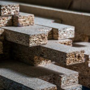 A stack of MDFs (medium density fibreboard)