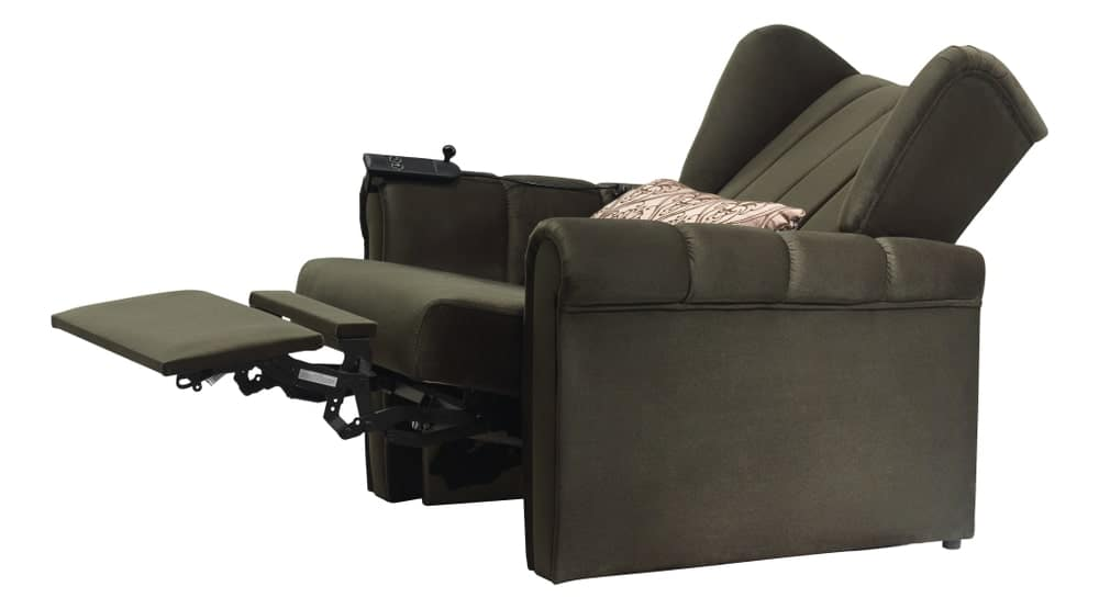 Recliner with pillow