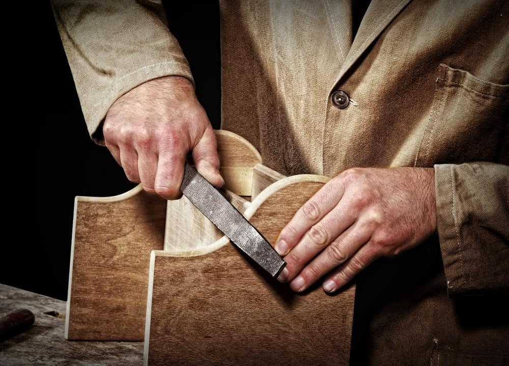 Wood rasp/file used to polish a woodwork.