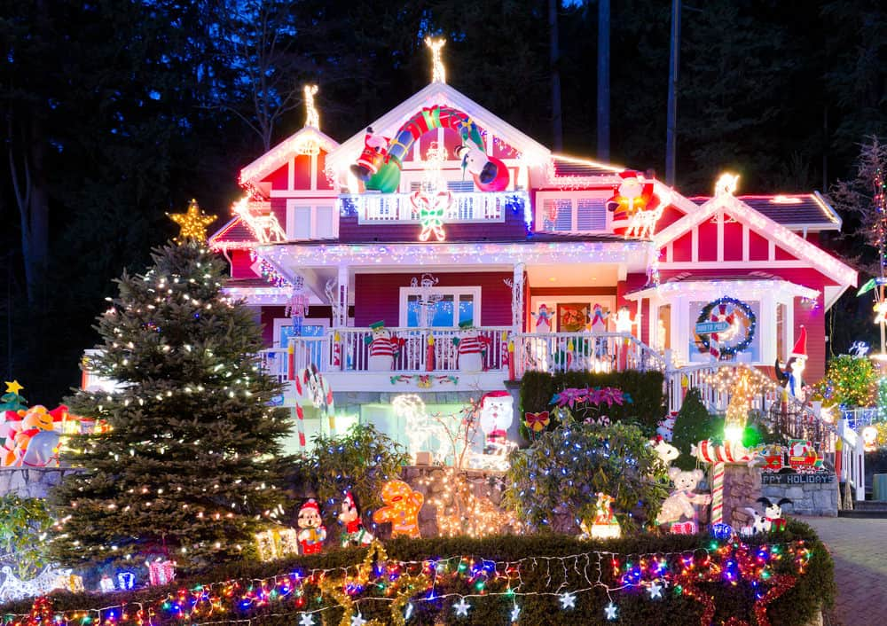 This house is in North Vancouver and is one of the most decorated houses in the Vancouver area.  It's incredible.