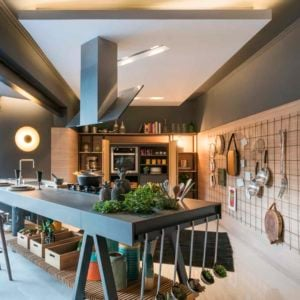 Example of a Great Kitchen without Cabinets and Counters by  W4 Arquitetura Criativa Architects