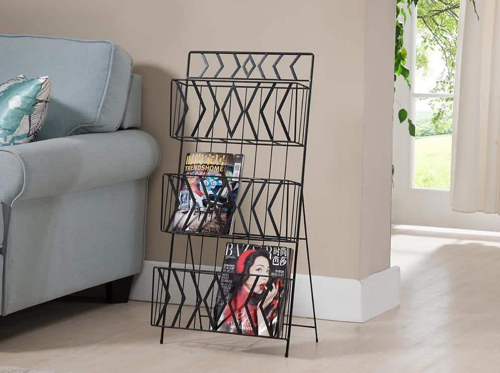 3-tier magazine rack