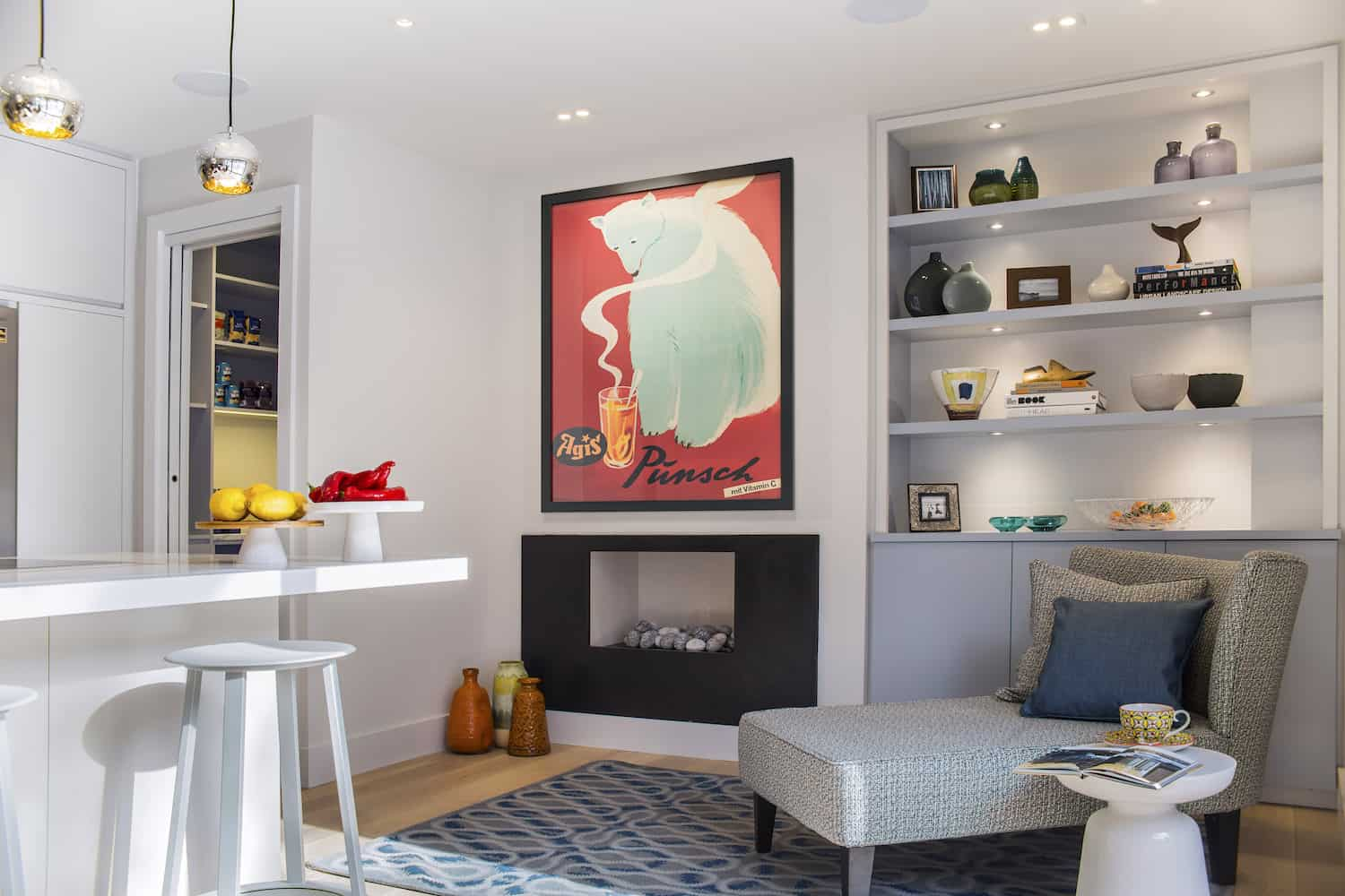 After - 1F - Kitchen - Fireplace + Chaise + Joinery Unit - LLI Design