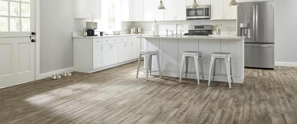 Brown hardwood floor example
