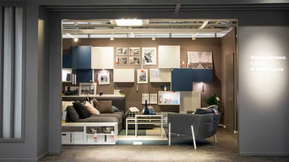 Example of an IKEA living room in an IKEA store