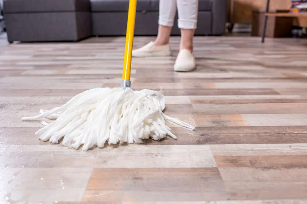 Floor getting mopped