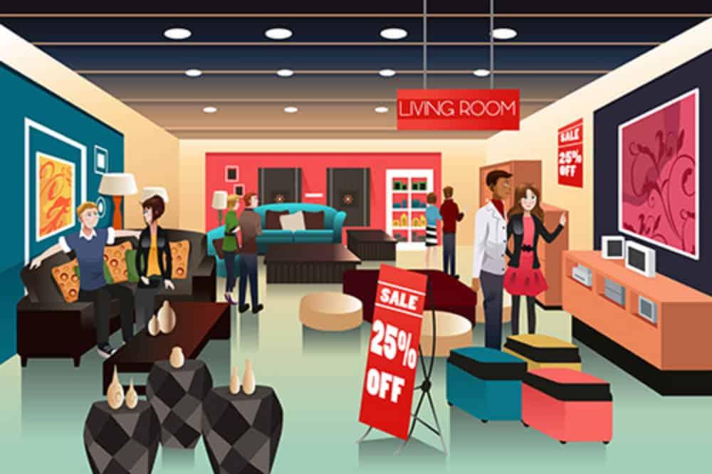 Furniture store illustration