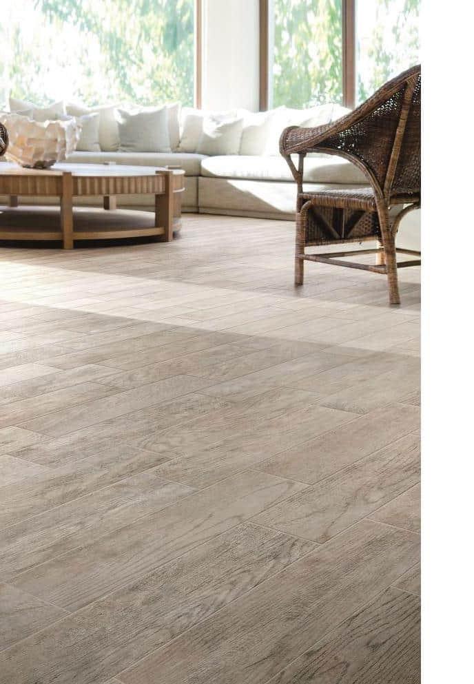 Gray hardwood floor example