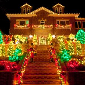 House with incredible Christmas light display