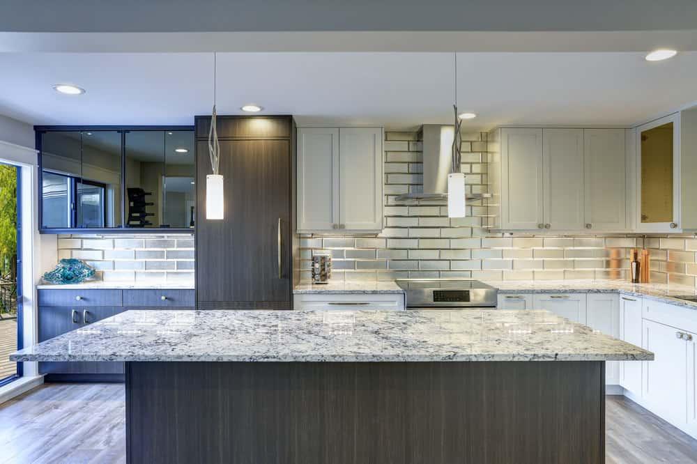Kitchen with quartzite countertops