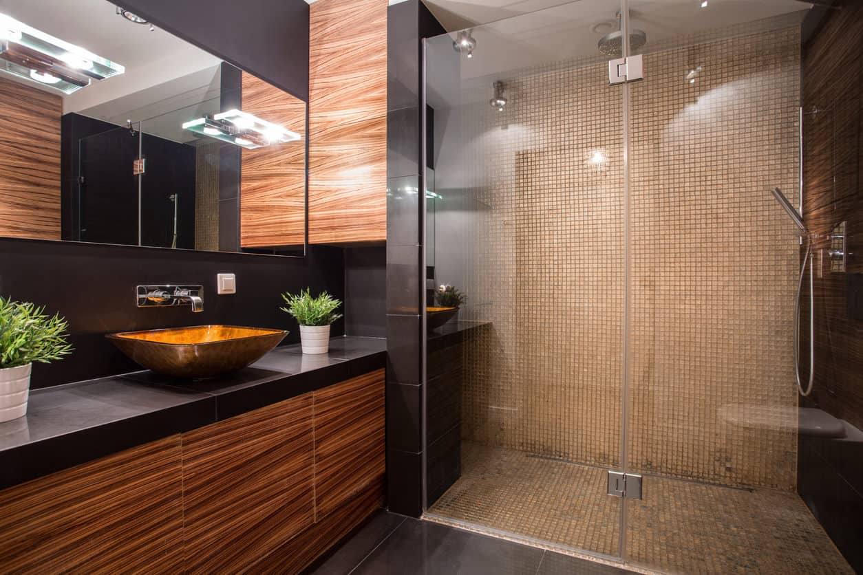 51 Sleek Modern Master Bathroom Ideas Photos