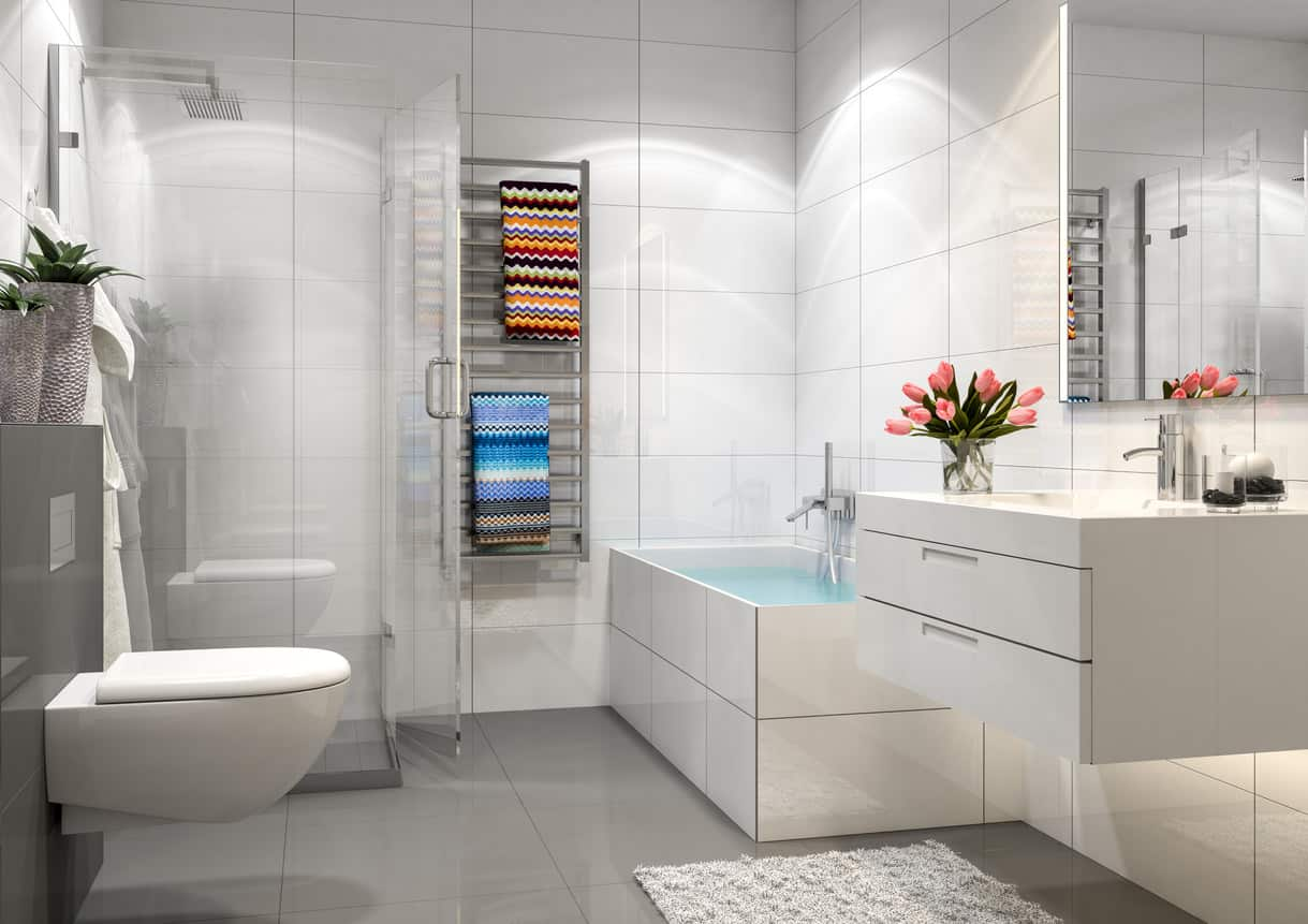 50 Sleek Modern Master Bathroom Ideas For 2019