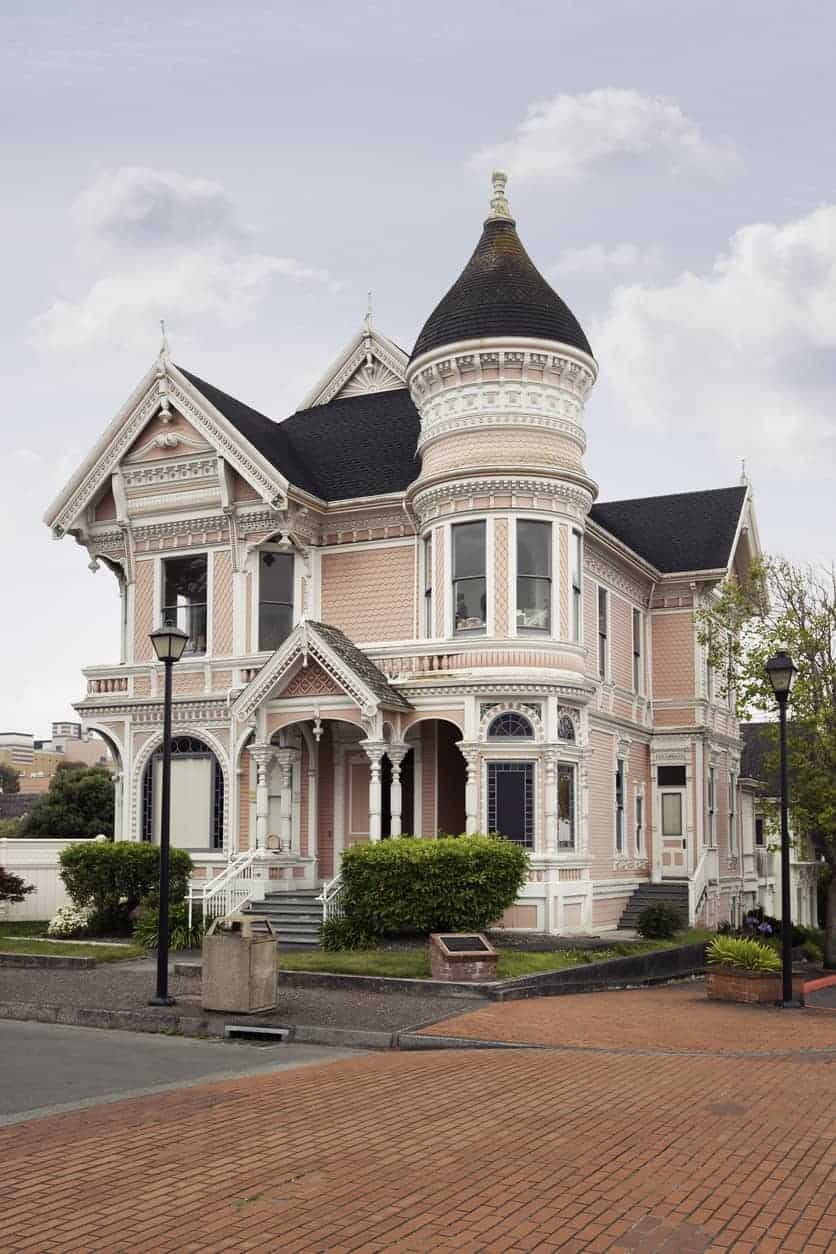 "Old victorian house called the ""Pink Lady"" built in 1889 in Eureka, California."
