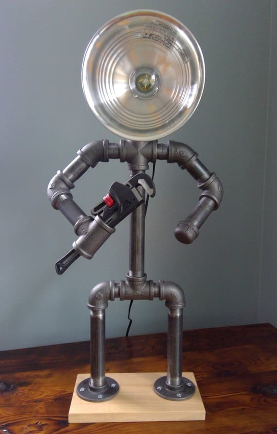 Pipe lamp for plumber