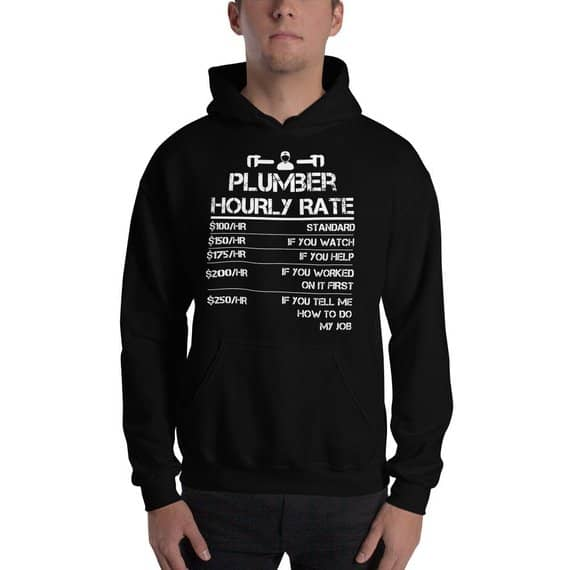 Plumber hourly rate hoodie