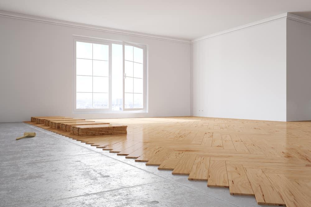 Poplar wood flooring