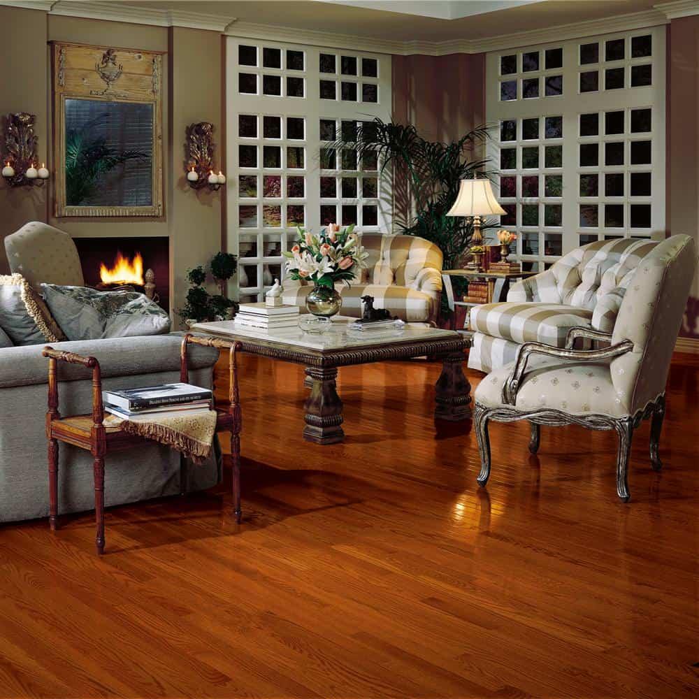 Red hardwood floor color