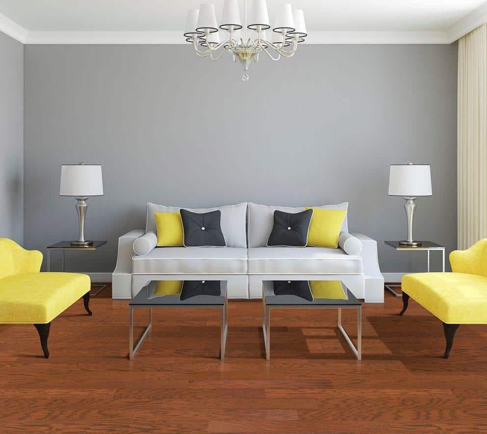Red oak hardwood floor example