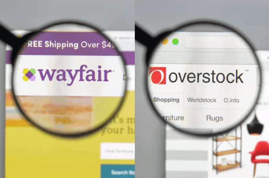 Wayfair vs. Overstock image comparison