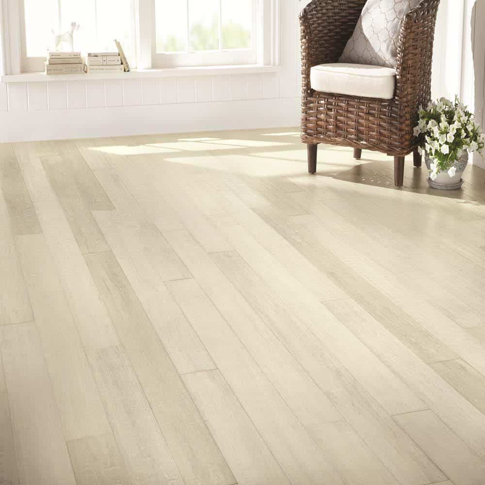 White hardwood color example