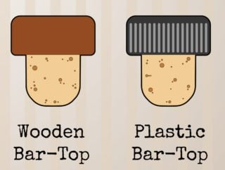 Wooden and platic bar top cork stoppers