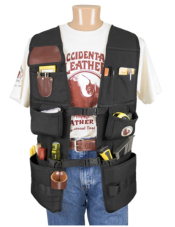 Work vest for plumbers