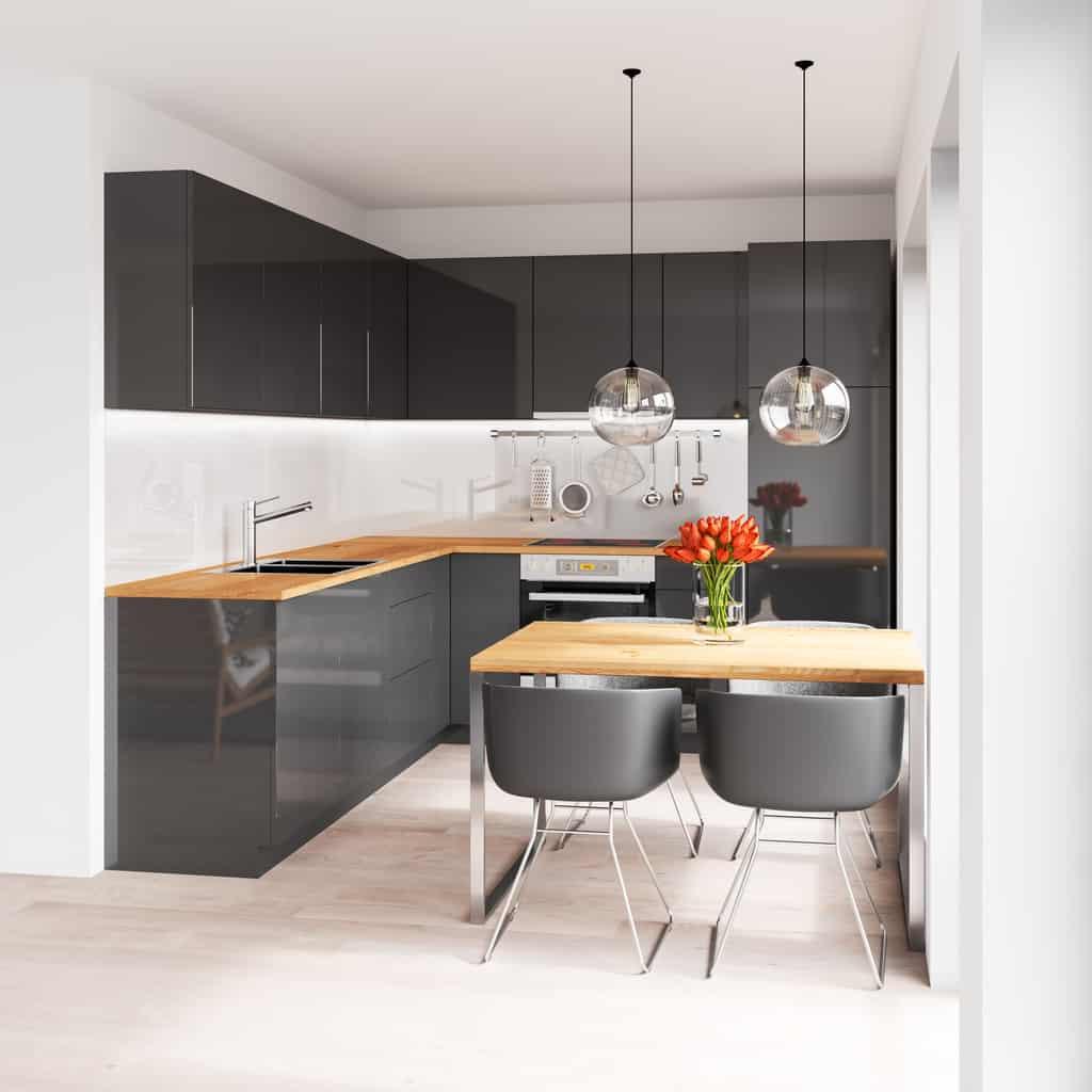 40 Sleek Black Kitchen Ideas and Cabinets (2019 Photos)