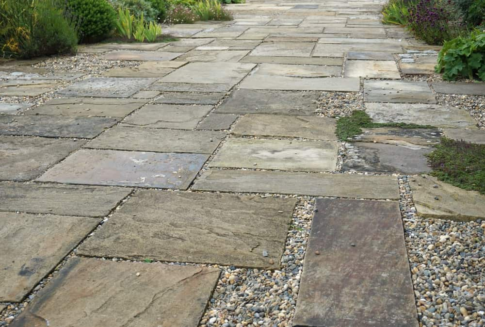 Flagstone patio walkway.
