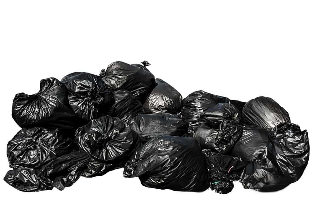 A pile of garbage bags.