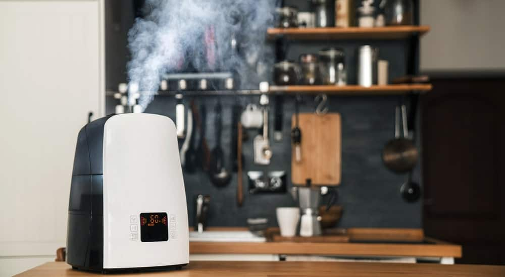 A humidifier in the kitchen.