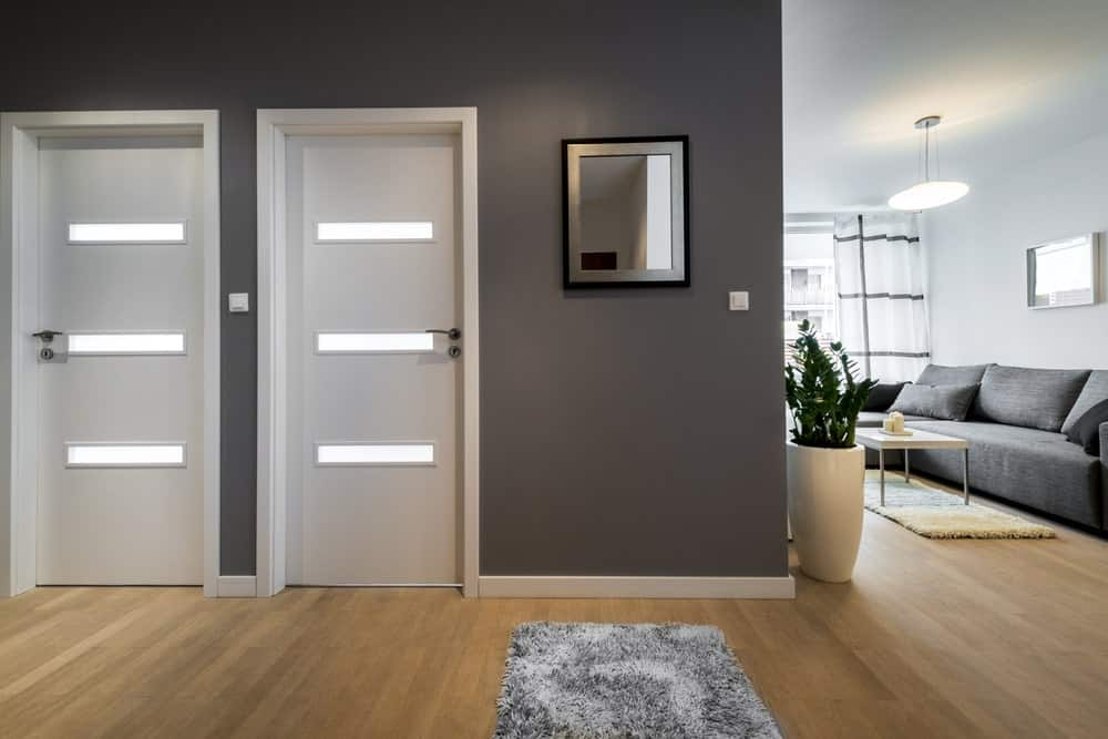 Stylish interior doors in a modern apartment.
