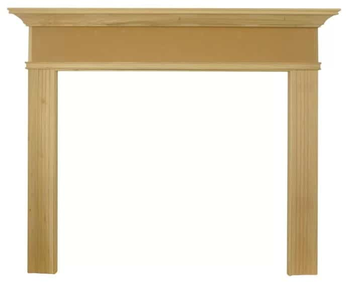 Manufactured wood fireplace mantel