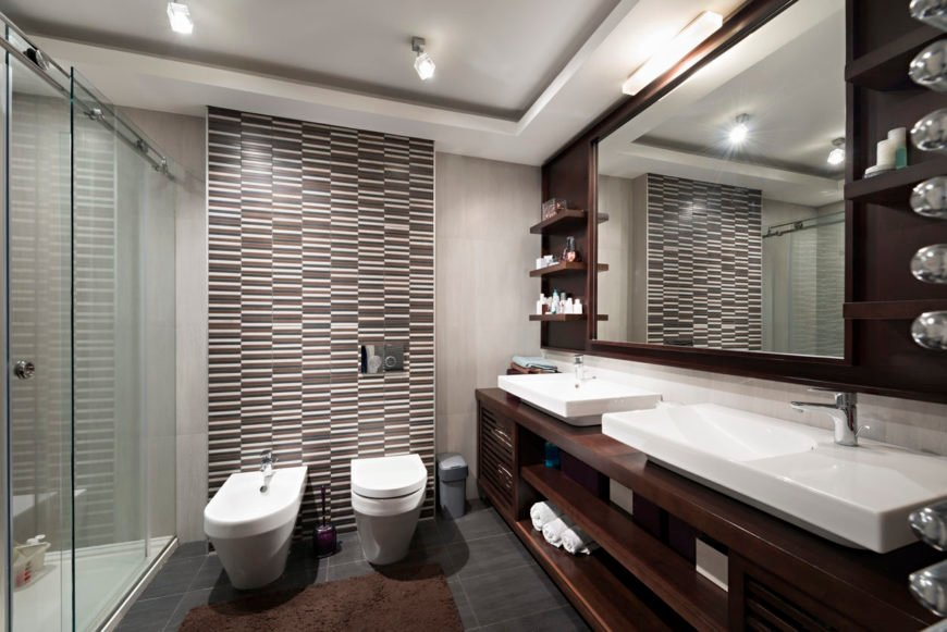 51 Sleek Modern Master Bathroom Ideas (Photos)