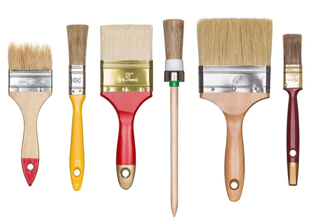 Different types of paintbrushes.