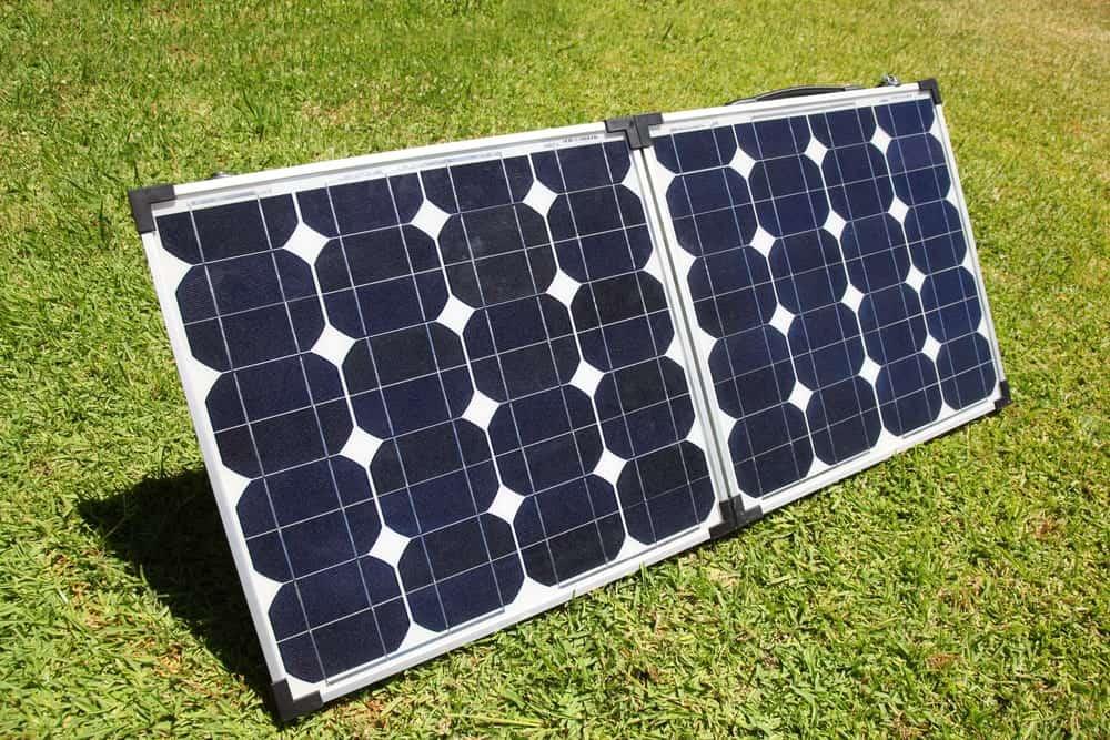 Portable Solar Panels on grass