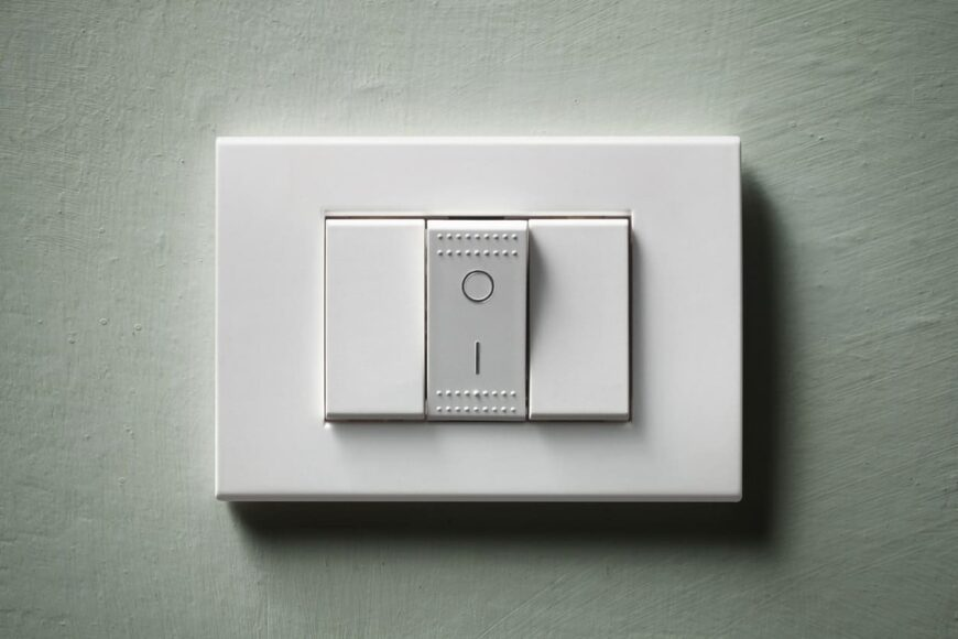 Push button light switch.