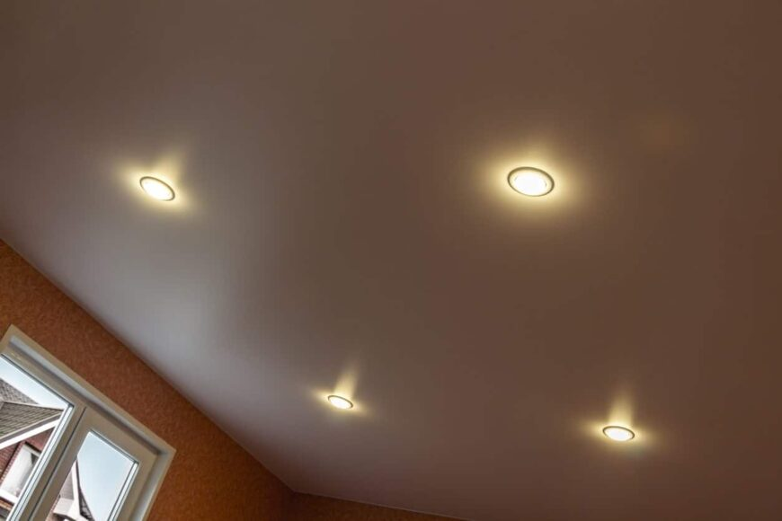 Recessed ceiling lights.