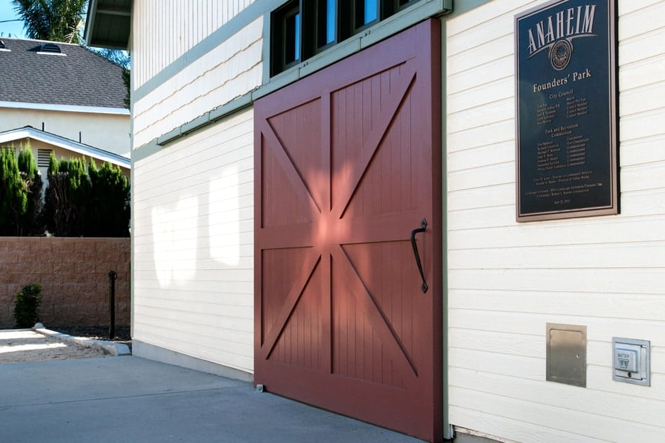 Barn-style sliding garage doors