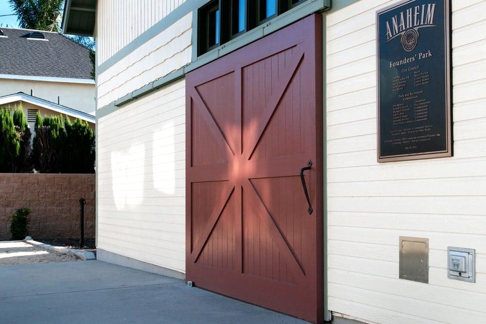 Barn-style sliding garage doors