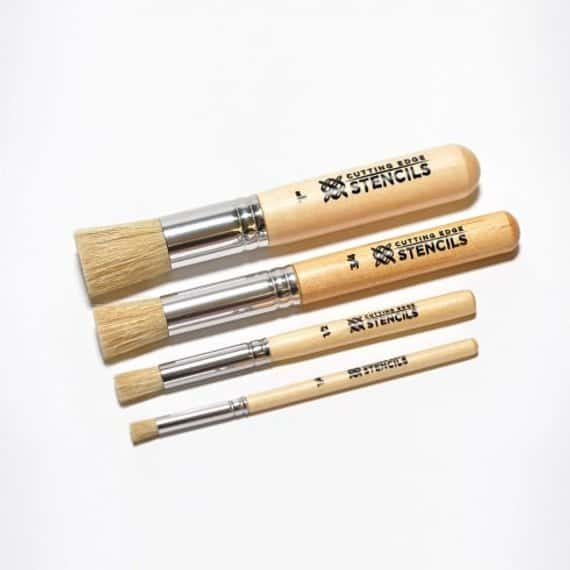 A set of stencil paintbrushes