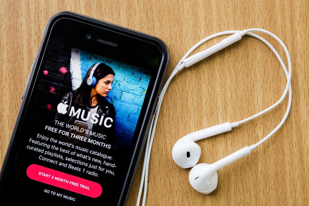 Apple Music on mobile phone