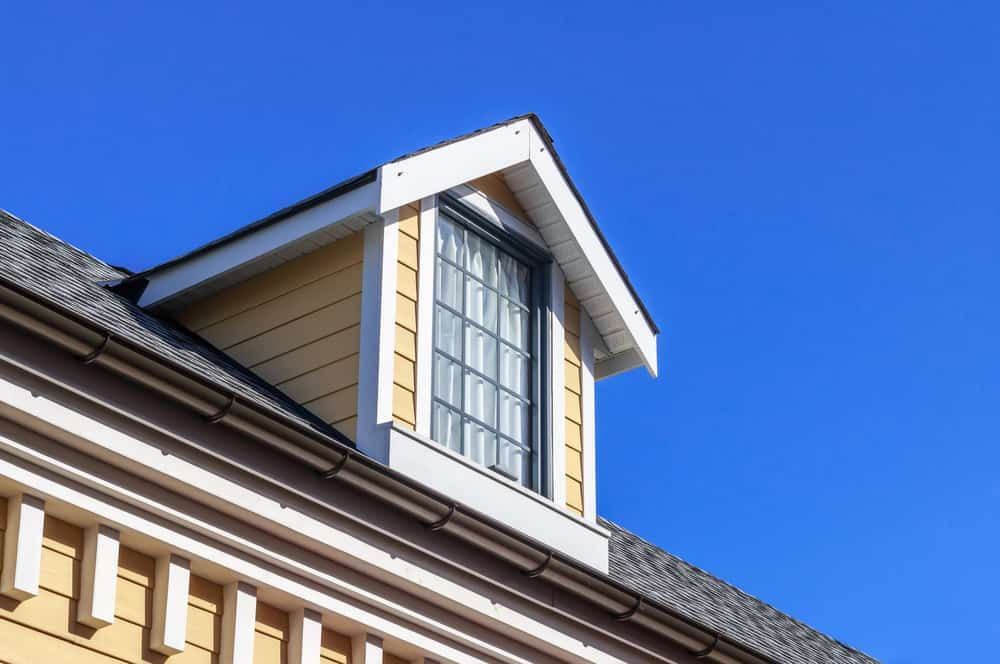 Close up photo of dormer window