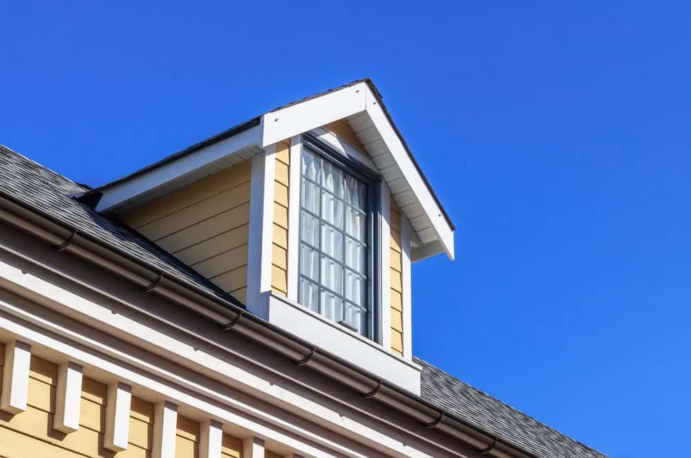 Close up photo of dormer window