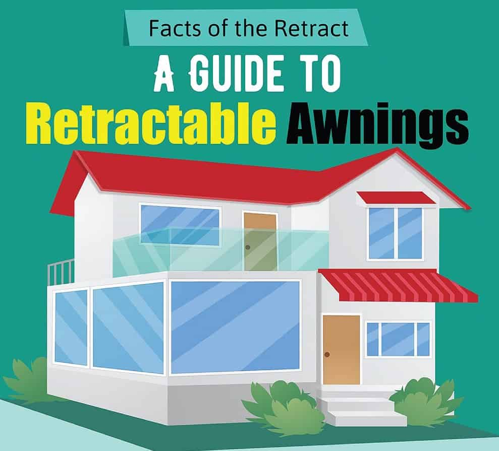 Retractable awnings illustration