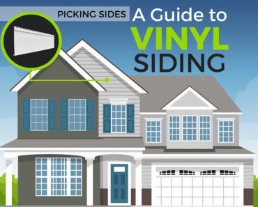 Illustration of a house with vinyl siding.