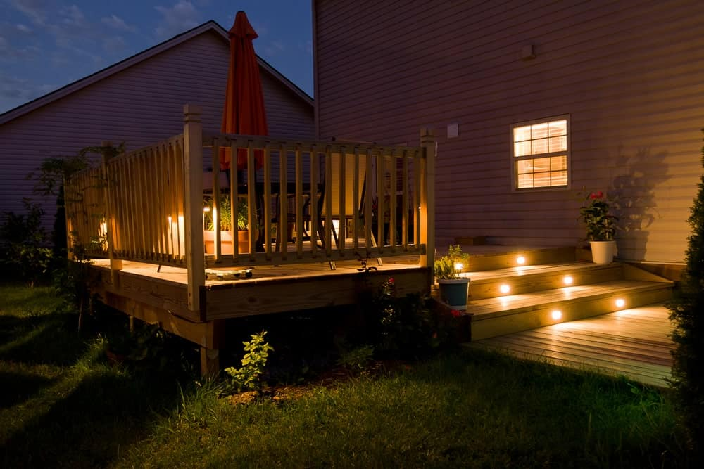 Deck solar lights