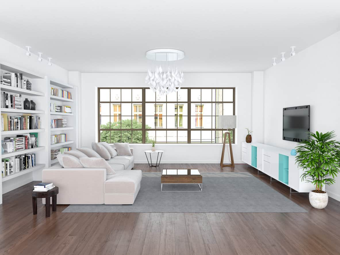 """The Pristine Palace Family Room, with its bright Arctic colors, wouldn't be amiss in the """"Frozen"""" movie"""