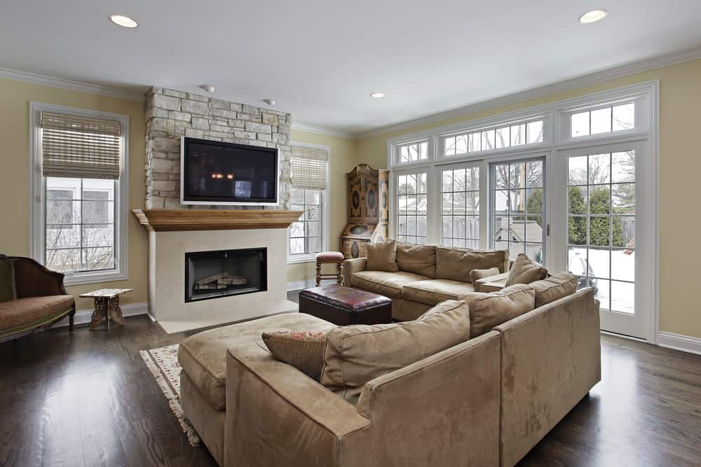 Nothing speaks warmth and welcome like this Suede Brown Living Room